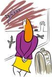 Voyageur dans l'aéroport illustration de vecteur