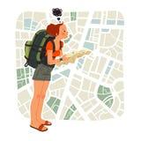 Voyageur dans la ville Photo libre de droits