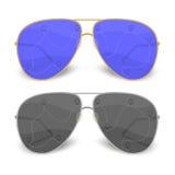Voyageur de lunettes de soleil Images libres de droits