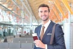Voyageur de VIP satisfait de son voyage Photo stock