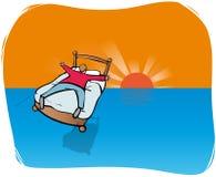 Voyageur heure du coucher Image libre de droits