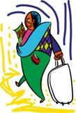 Voyageur heureux avec le passeport illustration stock