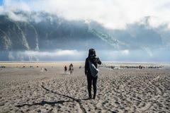 Voyageur recherchant la vue Photo libre de droits