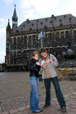 voyageurs de guide Images stock