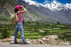 Voyageuse de femme Photos libres de droits
