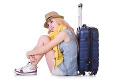 Voyageuse de jeune fille Photo libre de droits