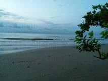 Voyagez à la plage d'Angsana, Kalimantan du sud, wonderfule Indonésie Photographie stock libre de droits