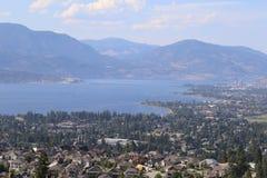 Voyagez dans le lac de destination et le pays de vin dans le Canada Photos stock