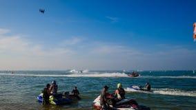 Voyagez en jet la coupe du monde de ski 2017 à la plage de Jomtien Photos libres de droits