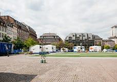 Voyagez pour le championnat prochain du football dans des Frances de Strasbourg Photo libre de droits