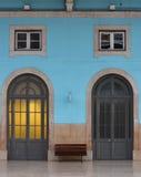 Voyant ambre derrière le porta 36, Santa Apolonia Images stock