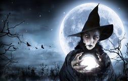 Voyant de sorcière de Halloween photos libres de droits