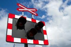 Voyants d'alarme ferroviaires. Image stock