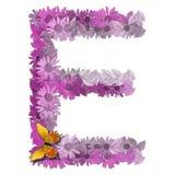 Voyelle E de lettre alphabétique Image libre de droits