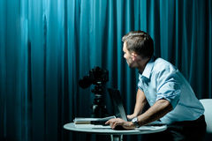 Voyeur και κυνηγός Στοκ εικόνες με δικαίωμα ελεύθερης χρήσης