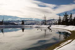 Voyez dans le repaire Alpen im Gastein Gebirge Photographie stock