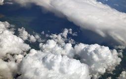 voyez des cumulus d'en haut photos libres de droits