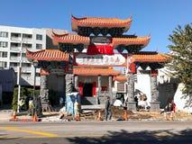 Voyez, un temple s'est levé Photos libres de droits