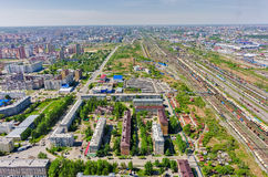 Voynovka railway node. Industrial district. Tyumen Stock Images