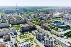 Voynovka residential area. Tyumen. Russia Royalty Free Stock Images
