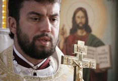 Orthodox priest Stock Images