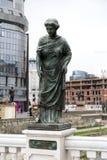 Voyvoda Ivats铜雕塑在街市斯科普里,马其顿 库存图片
