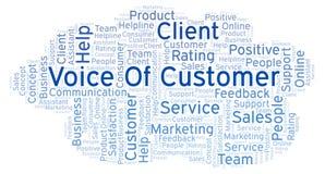 Voz de la nube de la palabra del cliente ilustración del vector