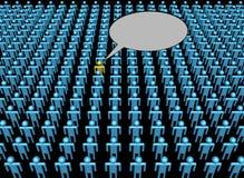 Voz de una persona en muchedumbre libre illustration