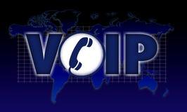 Voz de VOIP sobre o Internet Protocol Fotografia de Stock Royalty Free