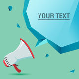 A voz do megafone anuncia o vetor da bolha do texto Imagem de Stock Royalty Free