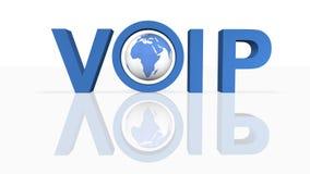 Voz sobre o IP ilustração royalty free