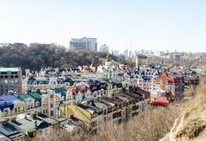 Vozdvizhenka elita okręg w Kijów, Ukraina zdjęcia stock