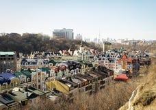 Vozdvizhenka elita okręg w Kijów, Ukraina obrazy stock