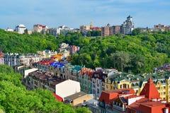 Vozdvizhenska and Honcharna street in Kiev Stock Images