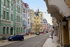Vozdvizhenskaya street in Kyiv, Ukraine. Royalty Free Stock Photography