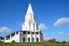 Voznesenskaya教会在Kolomenskoye,莫斯科,俄罗斯 免版税库存照片