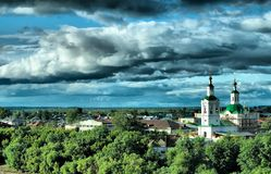 Voznesensko-Georgiyevsky church in Tyumen Royalty Free Stock Photography