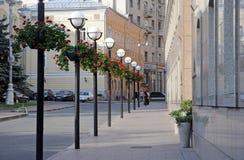 Voznesensky pereulok in Moscow, near the business centre Manor Stock Photos