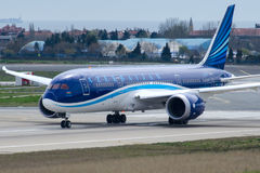 VP-BBS Azal Azerbaijan Airlines, Boeing 787-8 DREAMLINER Royalty Free Stock Photography