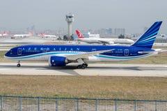 VP-BBS Azerbaijan Airlines, Boeing 787-8 DREAMLINER Imagem de Stock Royalty Free