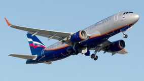 VP-BFA Aeroflot, Airbus A320-200 Lizenzfreie Stockbilder