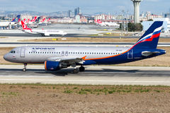 VP-BID Aeroflot, Airbus A320-200 Stockfotografie