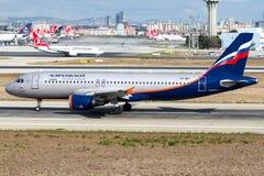 VP-BID Aeroflot, flygbuss A320-200 Arkivbild