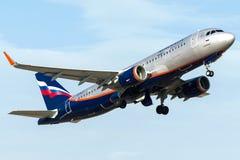 VP-BJY Aeroflot, flygbuss A320-200 Arkivfoto
