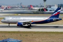VP-BKC Aeroflot, Airbus A320-214 Lizenzfreie Stockfotos