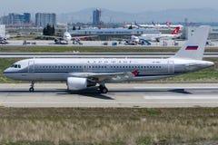 VP-BNT Aeroflot russische Fluglinien, Airbus A320-214 Retro- Lizenzfreie Stockbilder