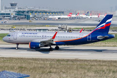 VP-BTI Aeroflot Russian Airlines , Airbus A320-214 Royalty Free Stock Photography
