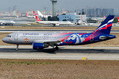 VP-BWD Aeroflot, Aerobus A320-214 CSKA liberia Zdjęcie Royalty Free