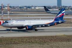 VP-BZS Aeroflot, Airbus A320-200 Lizenzfreies Stockfoto
