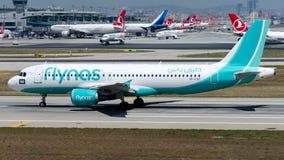 VP-CXO Flynas, Airbus A320-200 Photographie stock libre de droits
